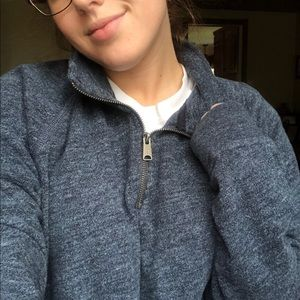 Lucky Brand Sweaters - Lucky brand charcoal blue quarter zip sweatshirt